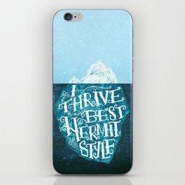 Hermit Iceberg iPhone Skin