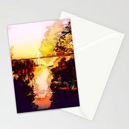 Impression of a sunset Stationery Cards