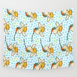 Cute Daffodil Pattern Wall Tapestry