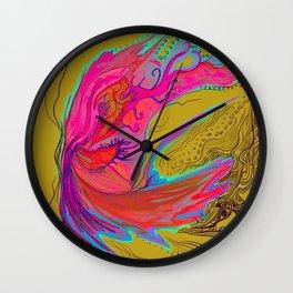 Metamorphosis with me-chartreuse Wall Clock