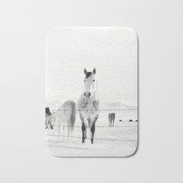 Winter Horse Landscape Bath Mat