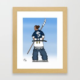 Street Samurai Series - Dragon Back Framed Art Print