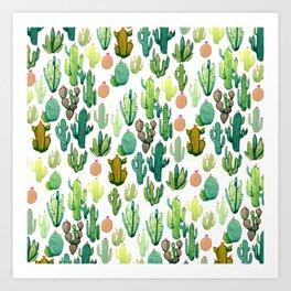 ramdom cactus Art Print