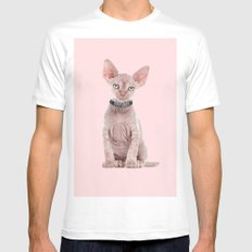 PUSSY White MEDIUM Mens Fitted Tee