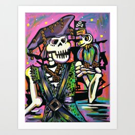 pyrate and brrrd Art Print