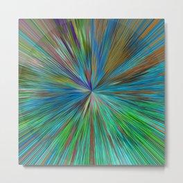 Abstract Sphere Mandala Design 711 Metal Print