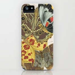 Butterfly an Moth Print by E.A. Seguy, 1925 #6 iPhone Case