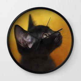 Black Cat Portrait Wall Clock