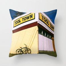 Tool Town Throw Pillow