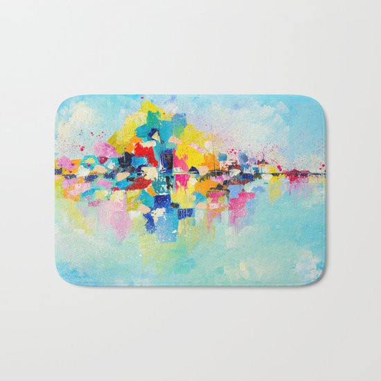 Island of happiness Bath Mat
