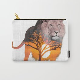 LION poster, Savanna canvas, Carry-All Pouch