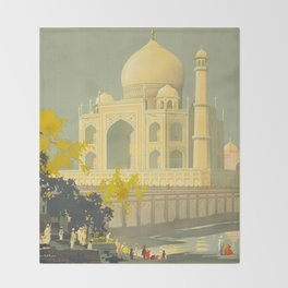 Visit India Throw Blanket