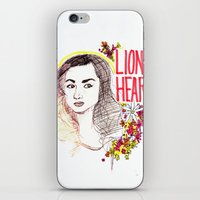 allison argent iPhone & iPod Skins featuring Queen Argent by Grit Spit and a Whole Lot of Duct tape