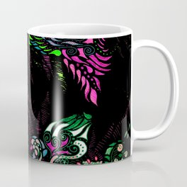 Swan Floral Coffee Mug