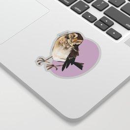 Female Sparrow in Pink (c) 2017 Sticker
