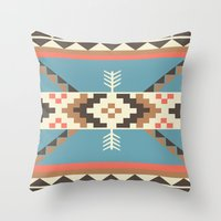 aztec Throw Pillows featuring AZTEC by 6ense