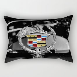 Cadillac hood ornament Rectangular Pillow