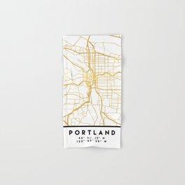 PORTLAND OREGON CITY STREET MAP ART Hand & Bath Towel