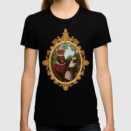 Monkey Queen with Pug Baby T-shirt