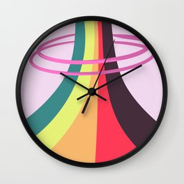 VHS Retro Gradient 3 Wall Clock