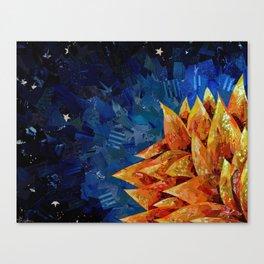 Star Bloom Collage Canvas Print