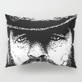 A portrait of Lemmy Kilmister of Motorhead Pillow Sham