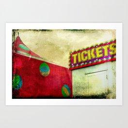 Tickets Art Print