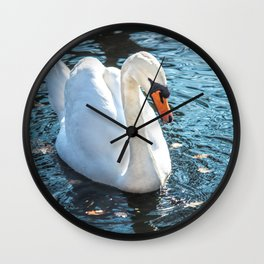 The white swan Wall Clock