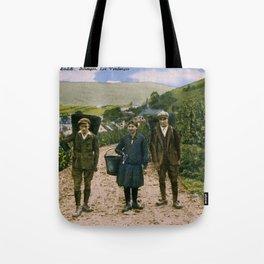 1900 Mosel wine harvest Schengen Luxembourg Tote Bag