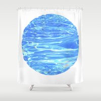 portal Shower Curtains featuring Portal by Bente