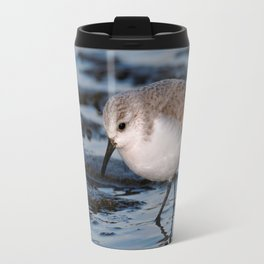 A Strolling Sanderling Travel Mug
