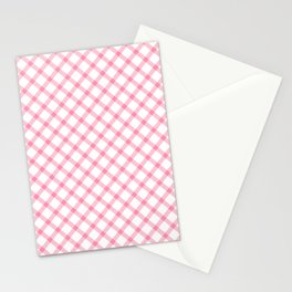 Pink and White Tartan Stationery Cards