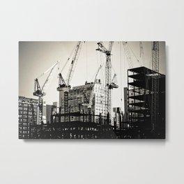 Pick-Up, Swing, Build, Repeat Metal Print