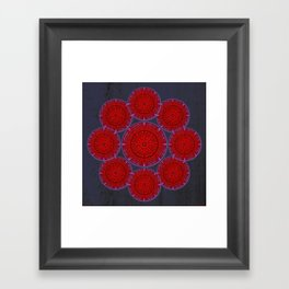 rashím towers gallery mandala Framed Art Print
