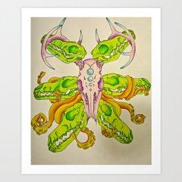 Skulls and Ink Art Print