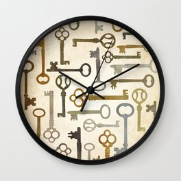 Vintage Keys Wall Clock