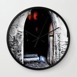 Dare Ye Enter Wall Clock