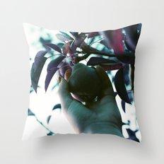 Backyard Pear Throw Pillow
