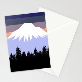 Retro Pacific Northwest Sunset Stationery Cards