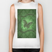 decorative Biker Tanks featuring Decorative butterfly by nicky2342