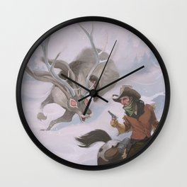 Frost - The legend of the snow beast was true Wall Clock