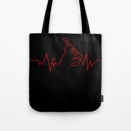 Baseball Heartbeat design Cool Gift for Sport Lovers Tote Bag