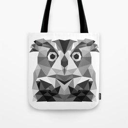 Grey Owl - low poly Tote Bag