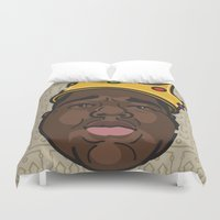 notorious big Duvet Covers featuring Notorious by DollarsandCents