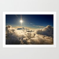 clouds Art Prints featuring clouds by 2sweet4words Designs