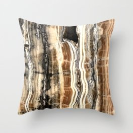 Creamy Caramel and Chocolate Fudge Marble Pattern Throw Pillow