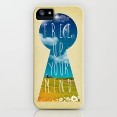 Free Up Your Mind iPhone (5, 5s) Slim Case