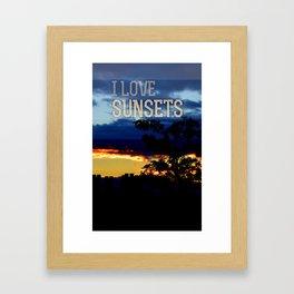 I love sunsets Framed Art Print