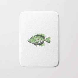 Have A Crappie Day Funny Crappies Fishing Quote Gift Bath Mat