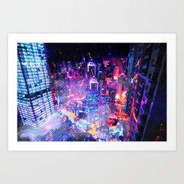 Cyberpunk City Kunstdrucke